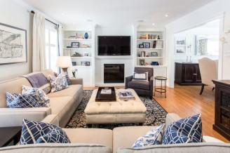 La sala de estar es uno de los aposentos preferidos por los clientes.